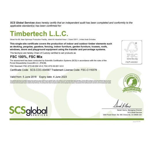 FSC Certificate - Timbertech